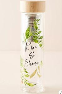 Anthropologie Botanical Infuser Bottle